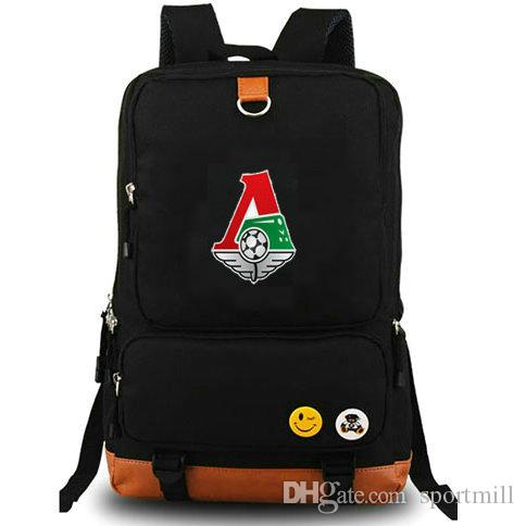 dfdca97093f6 Lokomotiv Moscow Club Backpack Football Team School Bag Print Badge ...
