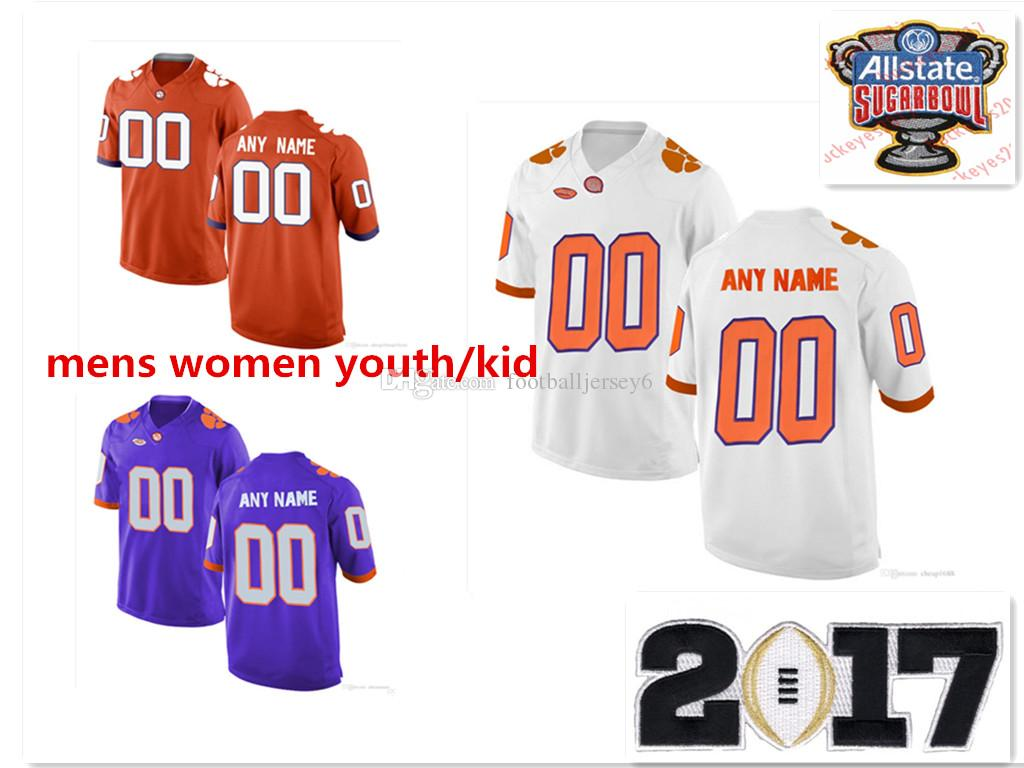 2f9e4ac97 ... shop italy custom clemson tigers jerseys pro customized ncaa college  football shirts personalized renfrow white purple