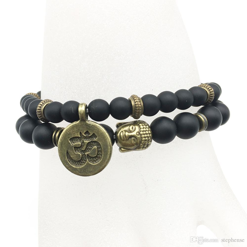 SN1271 sul braccialetto del braccialetto di Ohm di vendita stabilito del braccialetto di yoga degli uomini di disegno dell'annata di Fashiopn nuovo arrivo all'ingrosso dei monili di arrivo