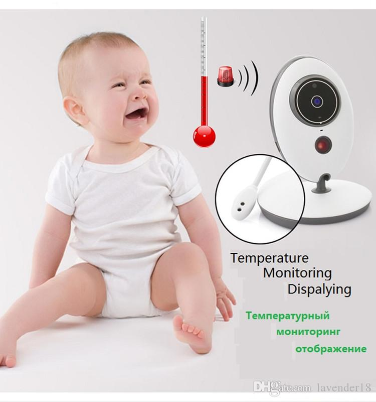 2.4 Inch LCD display Wireless Digital video baby monitor camera LCD Display VB605 two way talk monitoring cameras with night visionfunction