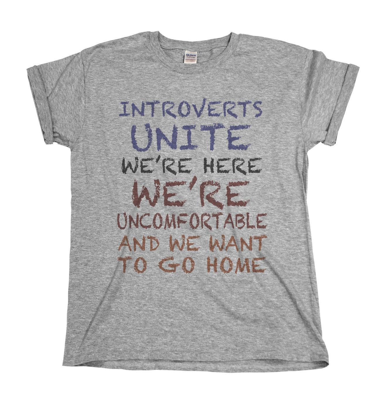 d39ecbffc Details Zu Introverts Unite Funny Mens T Shirt Small Group Nerd Geek Ladies  Birthday Top Shirts Mens Cool T Shirts Designs From Lukehappy14, $12.96|  DHgate.