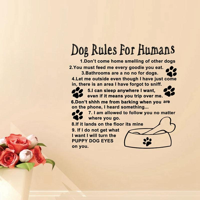 Amazon Stickers Muraux cutout amazon hot rules for humans wall art quote decal mural