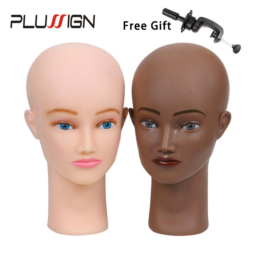 Plussign Bald Mannequin Head And Stand Set 21 No Hair Female Training  Manikin Head For Makeup Practice Hat Display Wig Making UK 2019 From  Sophine02 b27177c4b35c