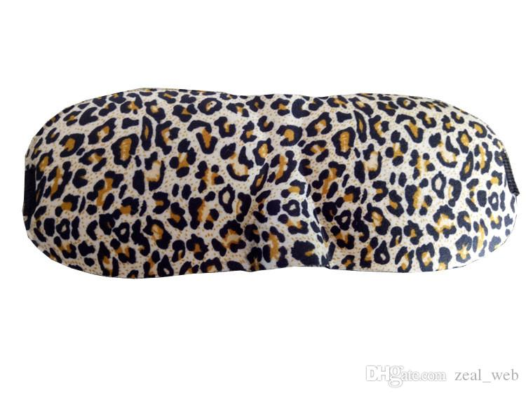 leopard print camo 3D Sleep Mask Sleeping Eye Mask Eyeshade Cover Women Men Soft Portable Blindfold airplane Eyepatch