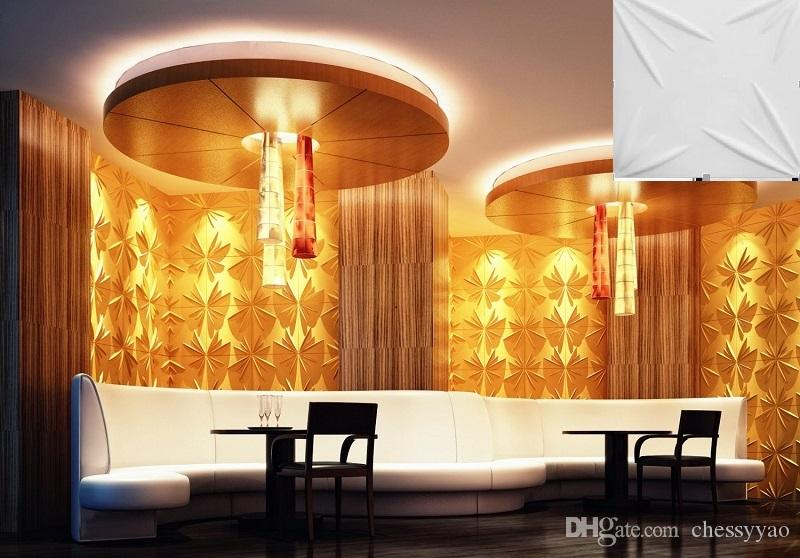 Castle home ktv hotel cafe shop decor More colorfull Waterproof Bloom Shape Designed Light-weight 3D PVC Wall/Ceilling Panels