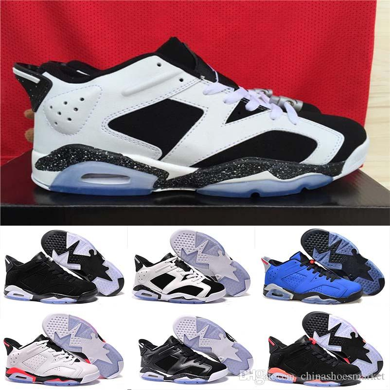 1a957d08a32fa3 2018 Cheap 6 6s Mens Low Basketball Shoes Man Unc Black Cat Infrared Sports  Blue Maroon Olympic Alternate Hare Oreo Angry Bull Sneakers East Bay Shoes  Shoes ...