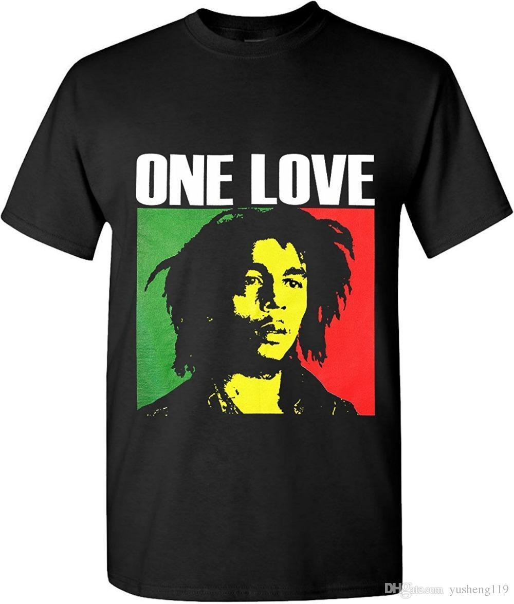 80efb27776a4 Make T Shirts Online Print Bob Marley One Love Graphic T Shirts Rasta  Reggae Legend Short O Neck Tee For Men Shirt Tees T Shirt On Shirt From  Yubin5, ...