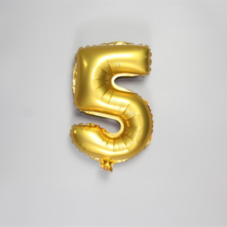 1 Adet 40 cm Altın Gümüş Numarası Alüminyum Folyo Balonlar Helyum Balon Şişme Doğum Günü Partisi Dekorasyon Kutlama