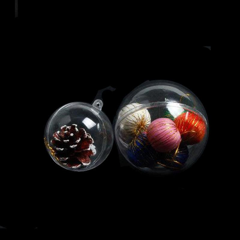 75pcs 4/5cm Ornaments ball decorations for home Christmas Tree Transparent hanging ball wedding decoration window display