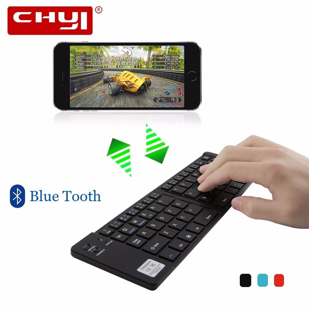f5ef250c1d9 2018 New Mini Foldable Keyboard Wireless Bluetooth Keyboards Rechargeable  Folding Touchpad For Smartphone Tablets Blue Black Red Large Key Keyboard  Large ...