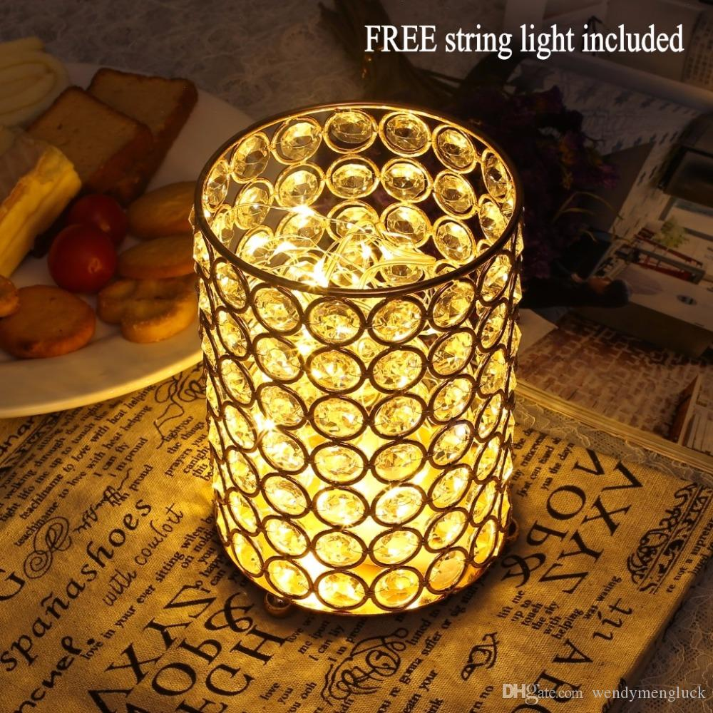 Decorative Glass Vase With Free String Light For Wedding Party ...