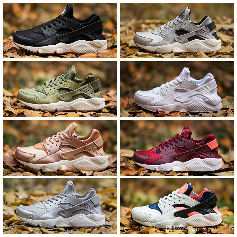 online store bea2b 2c393 2017 Huarache Id Custom Breathe Running Shoes For Men Women Women Men Navy  Blue Tan Air Huaraches Sneakers Huraches Brand Hurache Trainers Best Running  ...