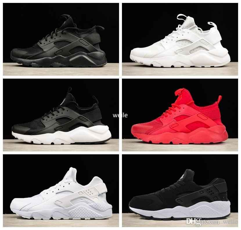 official photos ee7d8 52098 Air Huarache Ultra 1.0 4.0 Running Shoes For Men Women Huaraches Triple White  Black Red Harache Trainers Sports Huraches Sneakers Chaussures Air Huarache  ...