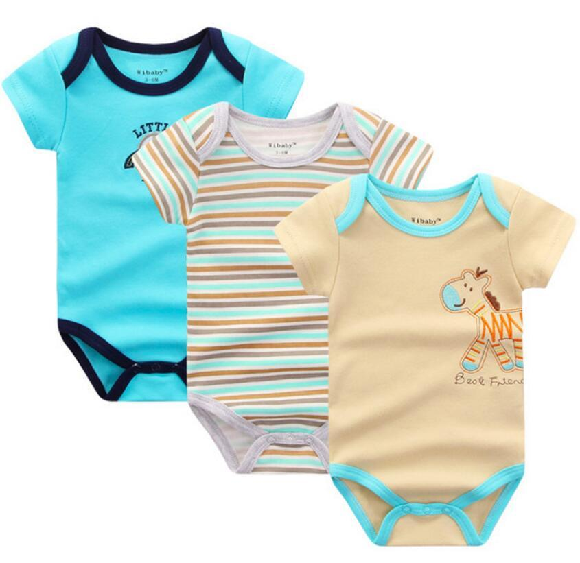 3d055f58fef0 Cotton Baby Clothes Infant Short Sleeve Jumpsuit Body for Babies ...