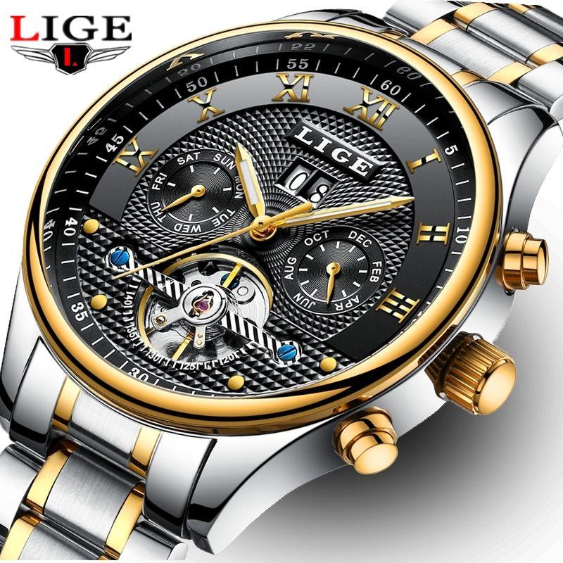 33aae7381f39 Großhandel LIGE Herrenuhren Top Marke Luxus Business Automatische Uhr Männer  Voller Stahl Mechanische Uhr Casual Sport Uhr Relogio Masculino Von  Gopromo, ...