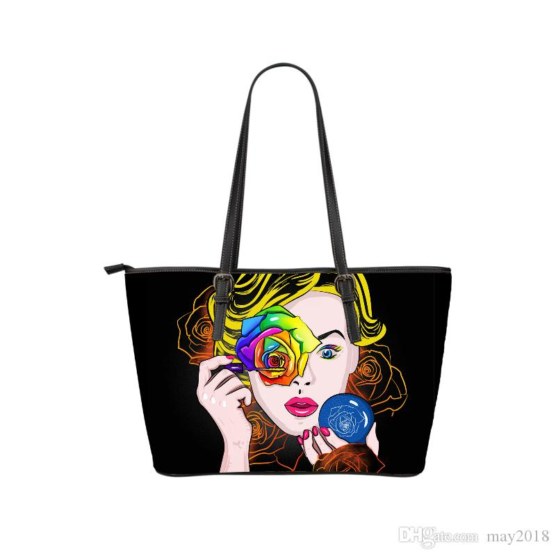 bc1b904f9d64 China Products Bulk Order Custom Print Flower Gril Casual PU Leather ...