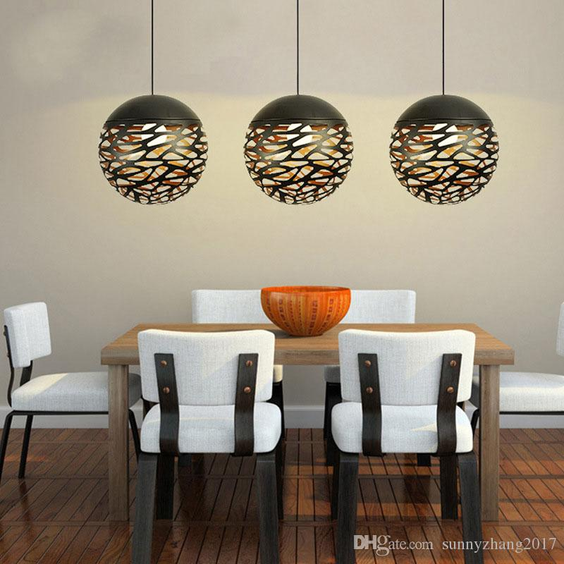 Modern Pendant Lamp Metal Pendant Light Globle Lamp With E27 Holder, Cut Out Style, New Style for Living Room,
