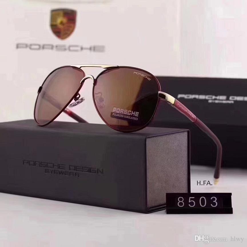 d3cfaf892115 Top Quality Brand Designer 8503 Polarized Sunglasses Men Alloy Frame ...