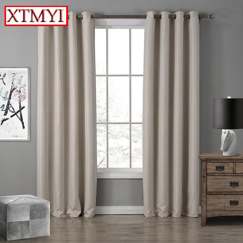 Europe rideaux occultants pour chambre à coucher fenêtres violet / beige /  marron rideaux pour salon