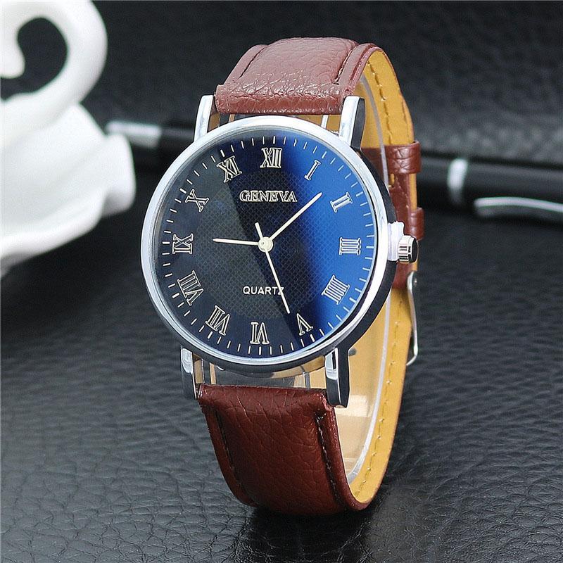 9c55fc05a215 Compre Nuevo Listado Reloj Para Hombres Relojes De Marca De Lujo Relojes De Cuarzo  Cinturones De Cuero De Moda Relojes Baratos Relojes Deportivos Relogio ...