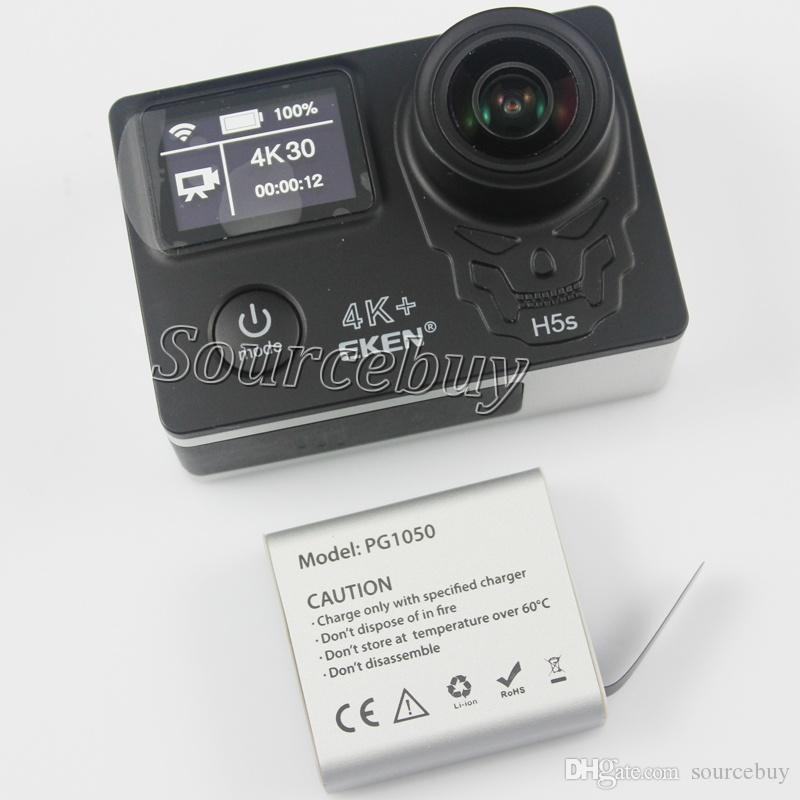 최신 EKEN H5S 플러스 울트라 HD 액션 카메라 터치 스크린 2 인치 EIS 4k / 30fps 720p / 200fps 30M 방수 이동 헬멧 스포츠 캠