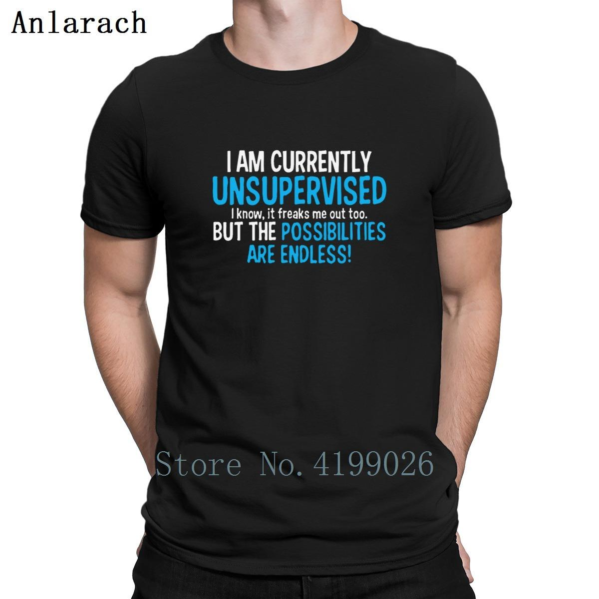 I Am Currently Unsupervised Adult Humor T Shirts O Neck Letters Printing  Spring T Shirt Top Quality Funny Casual Trendy Retro T Shirt Design Tee  Shirts From ...