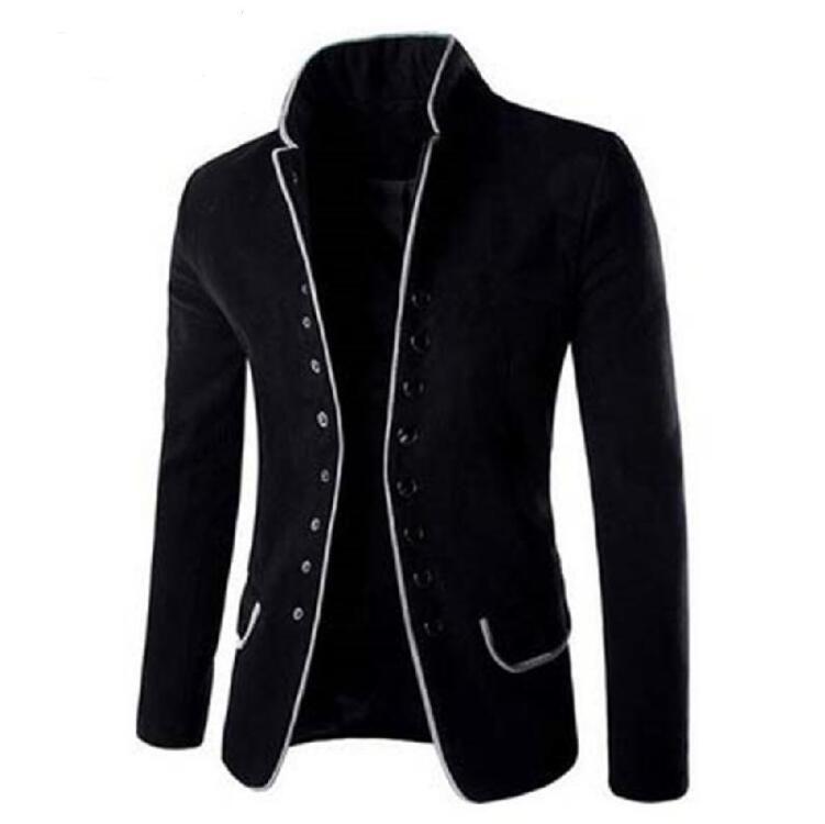 2017 Autumn Mens Fashion Blazer Casual Slim Fit Suit Jacket Chinese Tunic Male Blazers Men Coat Masculino