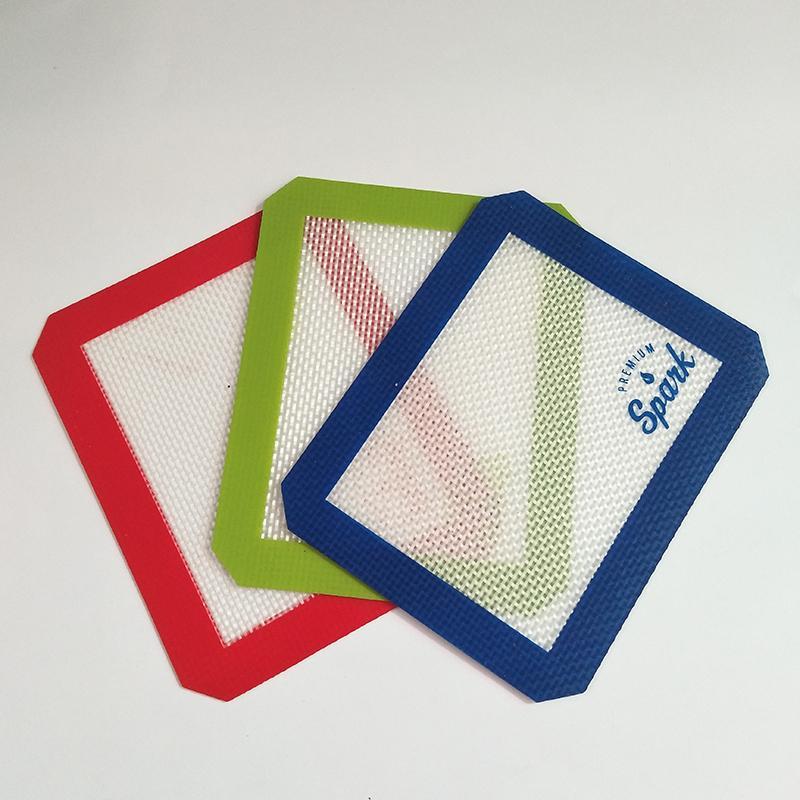 kuru ot DAB kavanozlar için gör dabber araç için kare tabakası pedler mat ile silikon mum dab mat pedi
