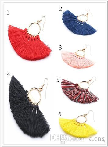 European and American brands weave cloth with soft nap Earrings hyperbole Jewelry For Women Party Gift 190