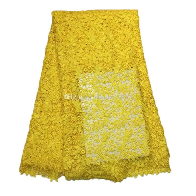 green color hot Selling French Lace Wholesale Price High Quality African Tulle cord Lace Embroidered Lace Fabric GYSW0004