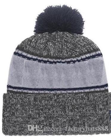 db2e6000998 2019 Autumn Winter Hat Sports Hats Custom Knitted Cap With Team Logo  Sideline Cold Weather Knit Hat Soft Warm Dallas Beanie Skull Cap Newborn Hats  Knit ...