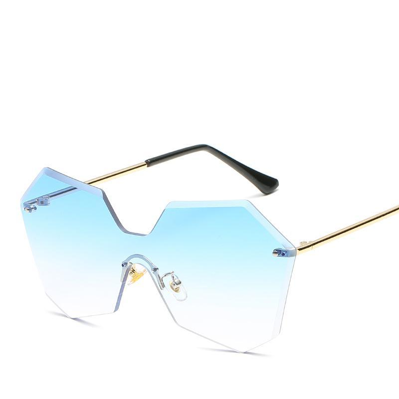 dee1457773 Compre Gafas De Sol De Las Señoras De Moda Lentes De Mar Irregulares Gafas  De Sol Retro Gafas Sin Montura A $17.74 Del Juemin | DHgate.Com