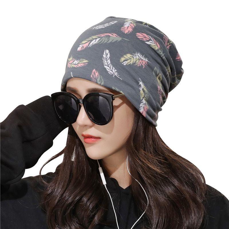 1c96cbd4930e9 SINGYOU 2018 New Graffiti Collar Scarf Turban Headwear Cap Autumn ...