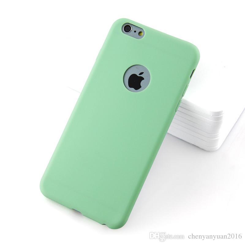 Luxury Soft Silicone Case For iPhone 6 s 6s 7 8 Plus X 10 6Plus 6sPlus 7Plus 8Plus Cute Candy Colors Rubber Cover