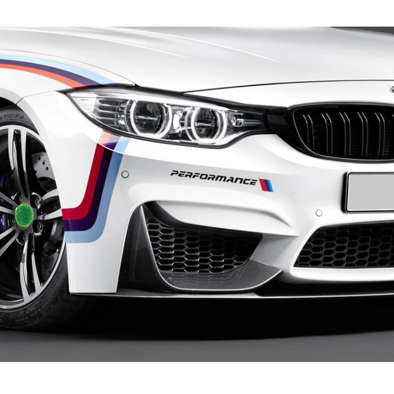 2019 M Performance Front Bumper Decal Sticker Reflective M Stripe