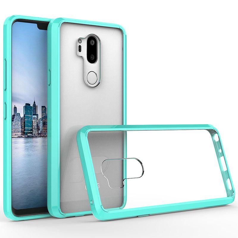 LG K10 2018 G7 Motorola MOTO E5 E5 artı E5 Oynamak Z3 Kristal Şeffaf Akrilik + TPU Anti-Güz arka kapak kılıf oyna