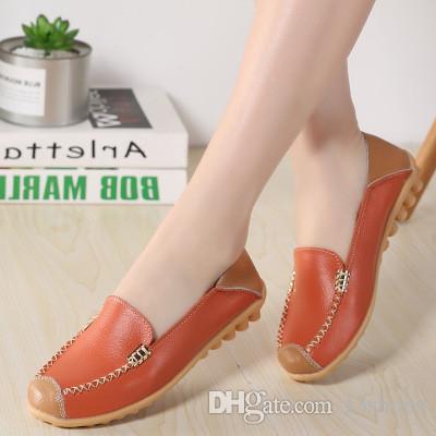 0e25780c9b25 2018 Women Comfort Flat Shoes Woman Walking Loafers Plus Size ...