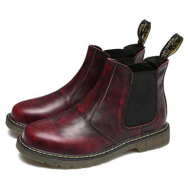 b25850a5676 Genuine Leather Men Punk Style Boots