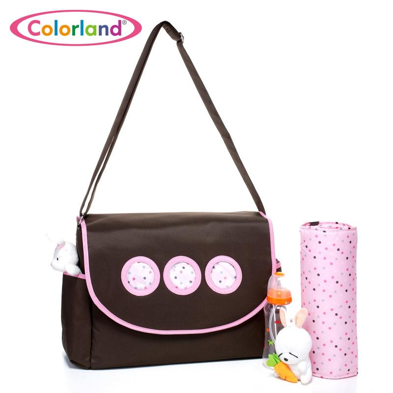 b716cc3ca0 Acquista Colorland Crossbody Fashion Mummy Maternity Nappy Bag Marca Grande  Daddy Shoulder Bag Passeggino Madre Messenger Pannolino Borse A  42.81 Dal  Lou88 ...
