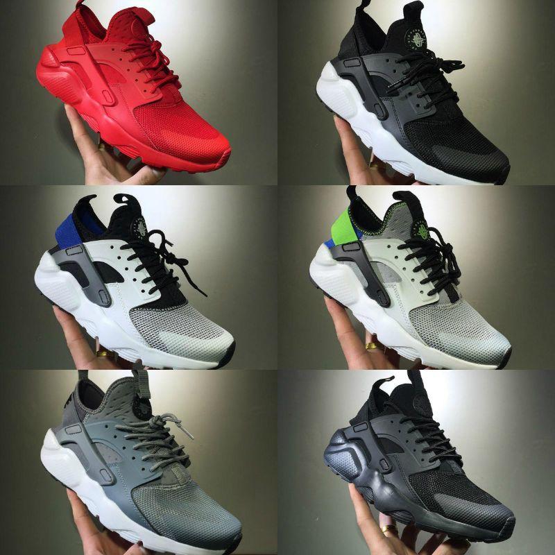 9807241dc0d07 2018 New Human Race Ultra Run IV 4 Classical Running Shoes Black White Oreo  Grey Huarache Shoes Mens Womens Air Huaraches Running Sneakers Cheap Running  ...