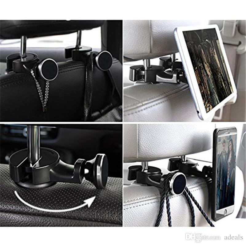 Car Headrest Mount for Tablet Car Back Seat Universal Magnetic Phone Mount Holder Perfect Backseat Entertainment
