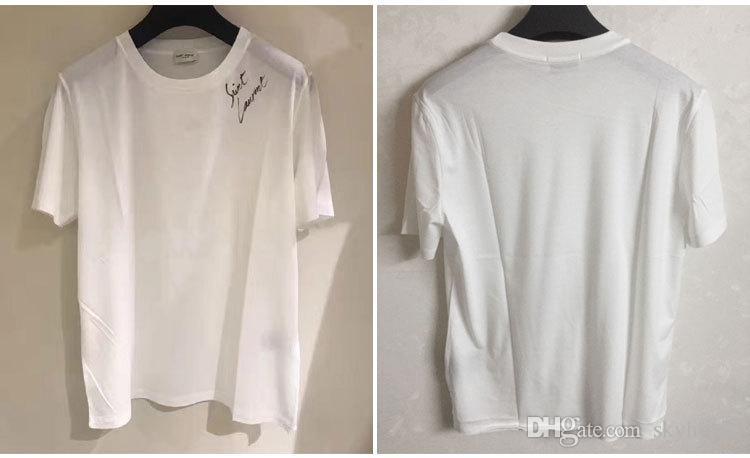 Hombres camiseta simple letra impresa santo camiseta Paris / SLP manga corta para hombre Lauren etiquetas Street Style Tops camiseta envío gratis 999