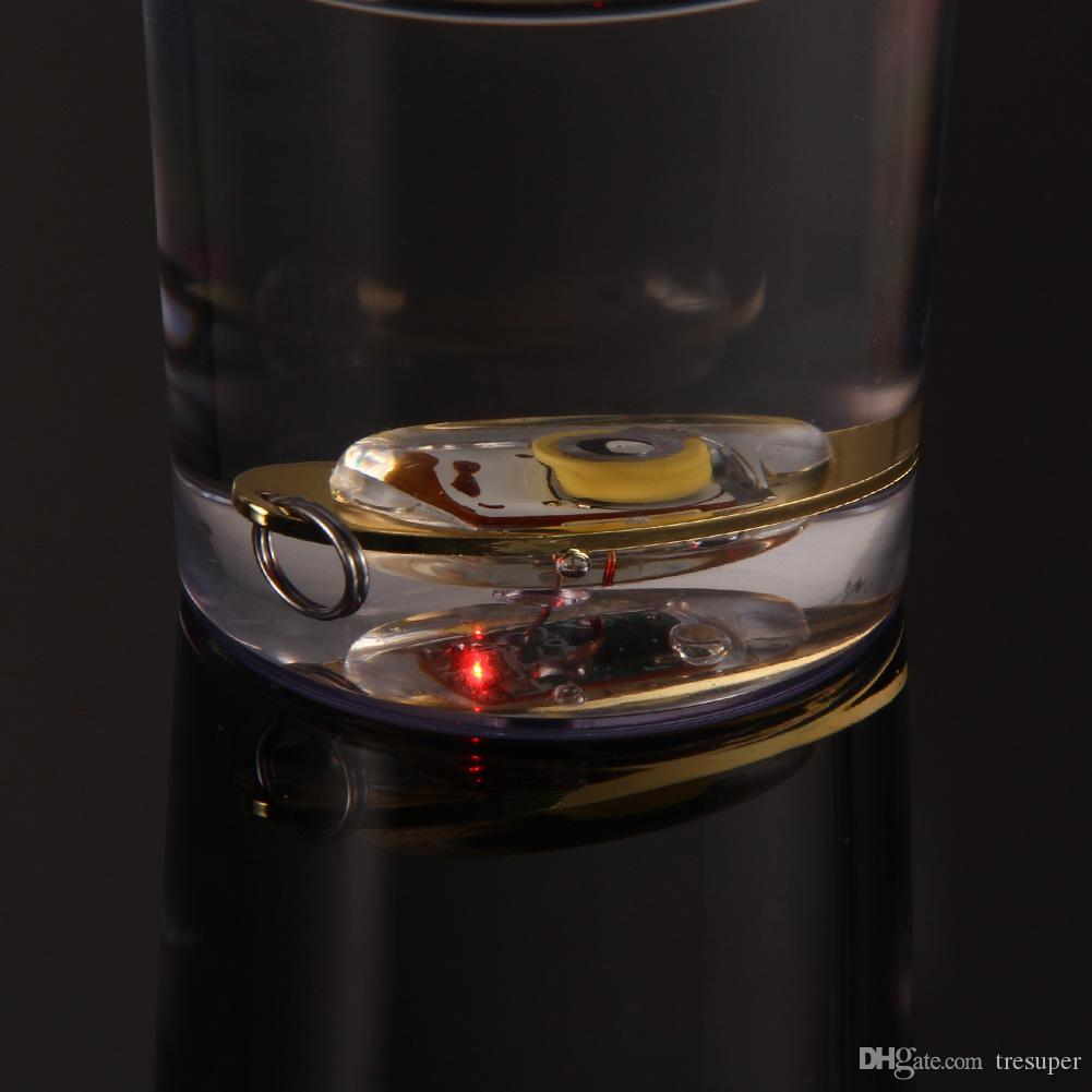Hot Sale Bass Spoon Crank Saltwater Tackle Flash Lamp 6cm LED Deep Drop Underwater Eye Shape Fishing Squid Fish Lure Light