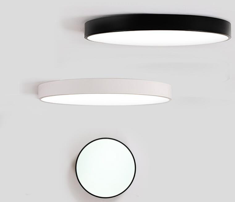 LED Luces de Techo Luminaria Lámpara de Techo Redonda Sencilla Decoración Accesorios Estudio Comedor Hogar Iluminación Dormitorio Alto 5 cm