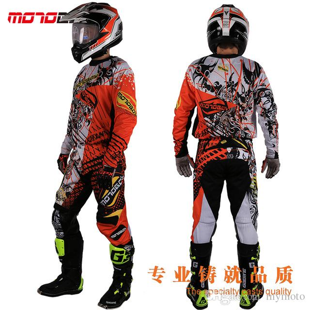 New Design Motocross Race Suit Men Big Size M 3XL 4XL Blue Green Ktm Dirt Bike Off-road Clothing Atv Motorcycle Jersey Suit green gh