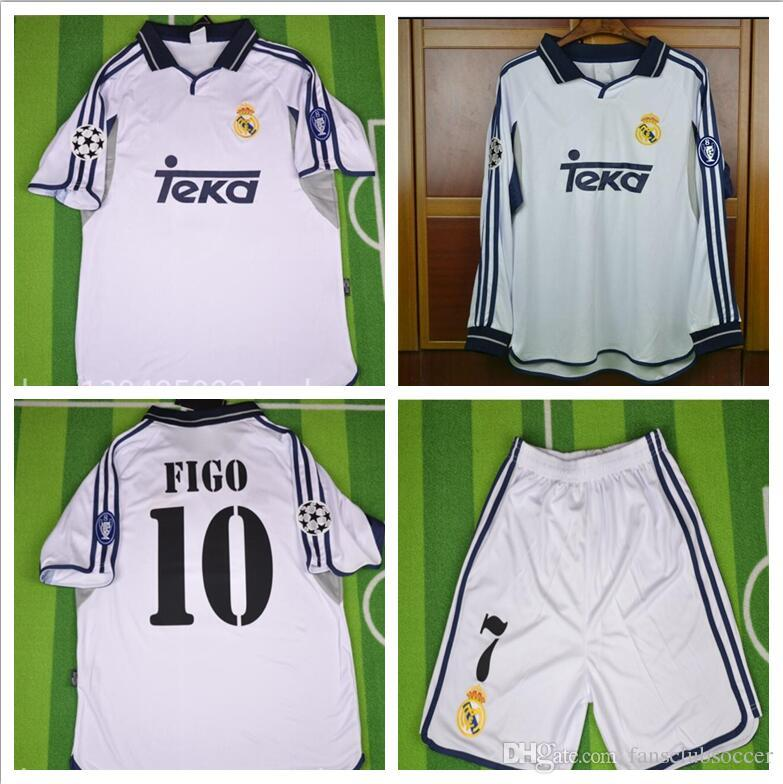 fd1b286afc1 2019 TOP THAI 00 01 Real Madrid Retro Soccer Jersey RAUL Football Shirts  2000 2001 FIGO RONALDO Carlos Camiseta De Futbol From Fansclubsoccer
