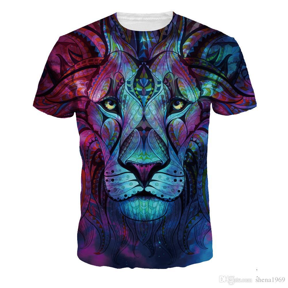 The digital printing t-shirt size all-match leisure sport sweater Mens Shirt