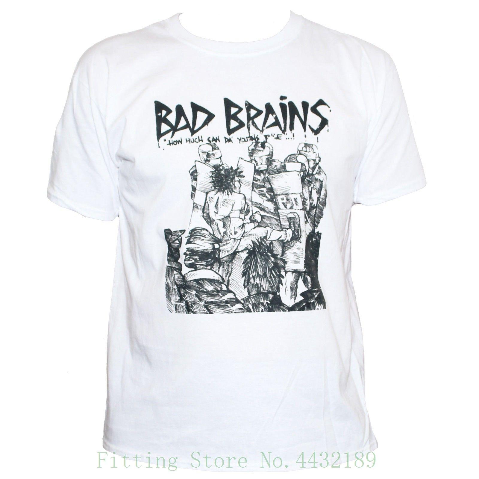 Bad Brains T Shirt Punk Rock Minor Threat Fugazi Graphic Band Tee Unisex  2018 Summer T Shirt