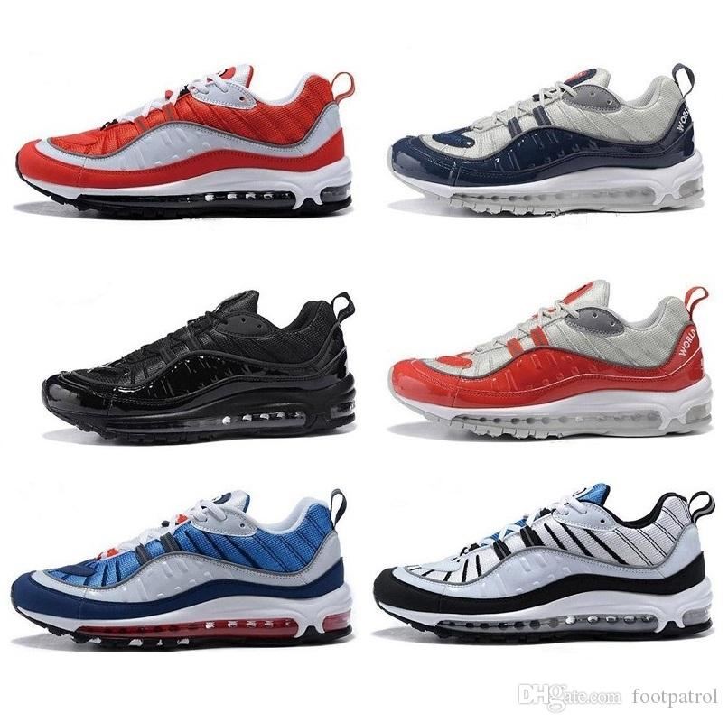 many kinds of cheap online buy online outlet with box 2018 Arrival 98 Gundam Sports Running Shoes for High quality Men's 98s White Blue Red Navy Black Outdoor Athletic Sneakers 40-46 official cheap price free shipping get authentic f9Li8qChKE