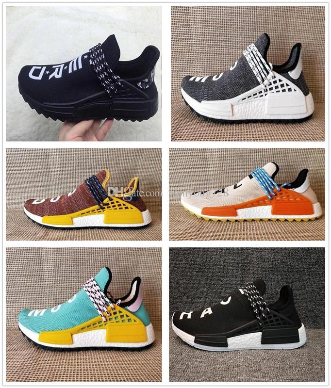 4a429fd471078 Originals NMD Human Race Trail Running Shoes Men Women Pharrell ...